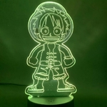 lampe 3d one piece monkey luffy kid 2 vert