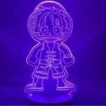 lampe 3d one piece monkey luffy kid 2 violet
