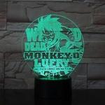 lampe 3d one piece luffy arena tour vert