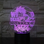 lampe 3d one piece luffy arena tour violet
