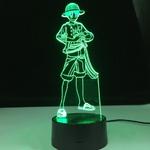 lampe 3d one piece monkey luffy 2 vert