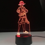 lampe 3d one piece monkey luffy 2 rouge