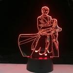 lampe 3d one piece roronoa zoro 2 rouge