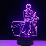 lampe 3d one piece roronoa zoro 2 violet