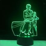 lampe 3d one piece roronoa zoro 2 vert