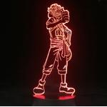 lampe 3d one piece usopp rouge