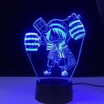 lampe 3d one piece mini monkey luffy bleu