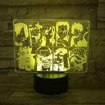 lampe 3d one piece mugiwara jaune
