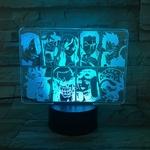 lampe 3d one piece mugiwara bleu