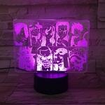 lampe 3d one piece mugiwara violet