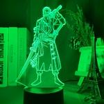 lampe 3d one piece roronoa zoro vert