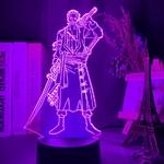 lampe 3d one piece roronoa zoro violet