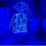 lampe 3d one piece luffy strawhat bleu 2