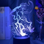 lampe 3d one piece trafalgar law bleu