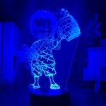 lampe 3d one piece mini roronoa zoro bleu