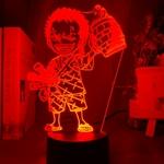 lampe 3d one piece mini roronoa zoro rouge