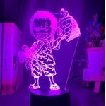 lampe 3d one piece mini roronoa zoro violet