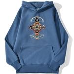 sweatshirt hoodie one piece gold pirates bleu azur
