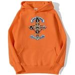 sweatshirt hoodie one piece gold pirates orange