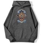 sweatshirt hoodie one piece gold pirates gris fonce