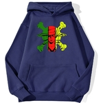sweatshirt hoodie one piece monster trio bleu marine