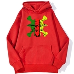 sweatshirt hoodie one piece monster trio rouge