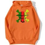 sweatshirt hoodie one piece monster trio orange