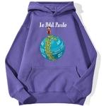 sweatshirt hoodie one piece petit pirate violet
