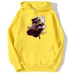 sweatshirt hoodie one piece luffy gear 4 jaune