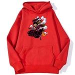 sweatshirt hoodie one piece luffy gear 4 rouge