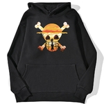 sweatshirt hoodie one piece logo paysage noir