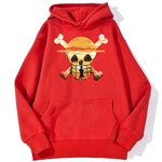 sweatshirt hoodie one piece logo paysage rouge