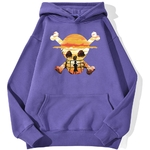 sweatshirt hoodie one piece logo paysage violet