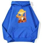 sweatshirt hoodie one piece luffy paysage bleu