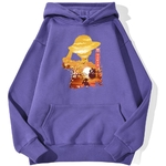 sweatshirt hoodie one piece luffy paysage violet