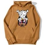 sweatshirt hoodie one piece monkey luffy gear brun