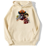 sweatshirt hoodie one piece baggy clown beige