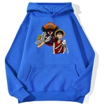 sweatshirt hoodie one piece baggy clown bleu