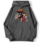 sweatshirt hoodie one piece baggy clown gris fonce