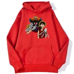 sweatshirt hoodie one piece baggy clown rouge