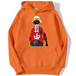 sweatshirt hoodie one piece luffy haki orange