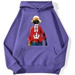 sweatshirt hoodie one piece luffy haki violet