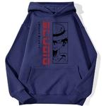 sweatshirt hoodie monkey luffy studio bleu marine