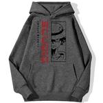 sweatshirt hoodie monkey luffy studio gris fonce