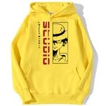 sweatshirt hoodie monkey luffy studio jaune
