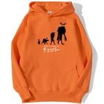 sweatshirt hoodie one piece chopper point orange