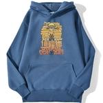 sweatshirt hoodie one piece luffy cartoon bleu azur
