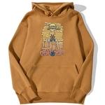 sweatshirt hoodie one piece luffy cartoon brun