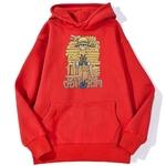 sweatshirt hoodie one piece luffy cartoon rouge