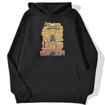 sweatshirt hoodie one piece luffy cartoon noir
